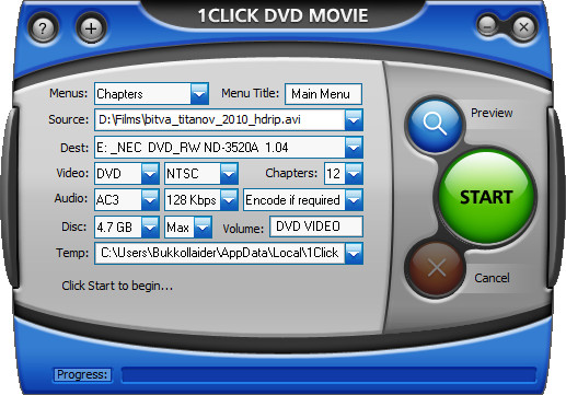 1Click DVD Movie v3.1.0.2
