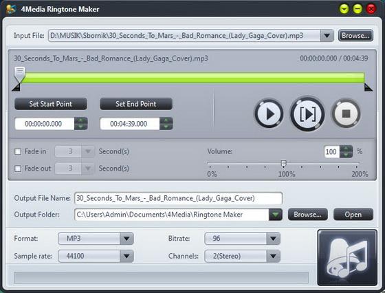 4Media Ringtone Maker v2.0.4.0908