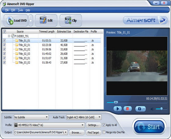 Aimersoft DVD Ripper v2.4.4