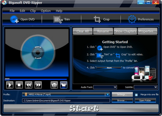 Bigasoft DVD Ripper v1.6.4.3873
