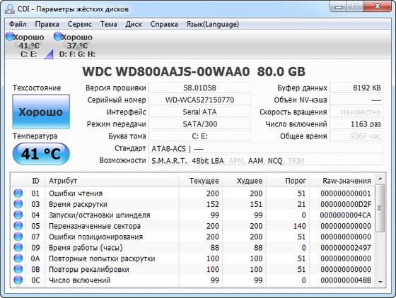 CrystalDiskInfo v3.9.1