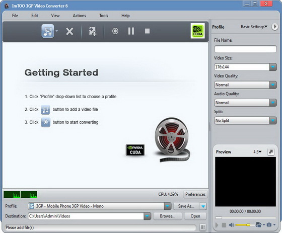 ImTOO 3GP Video Converter v6.0.9.0910