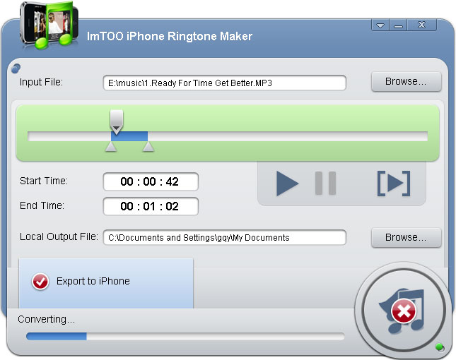ImTOO iPhone Ringtone Maker v2.0.4.0416