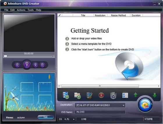 Joboshare DVD Creator v3.1.1.0805