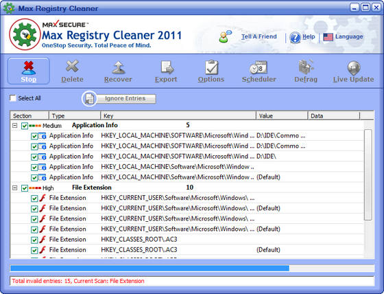 Max Registry Cleaner v6.0.0.046