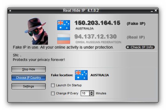 Real Hide IP v4.1.0.2