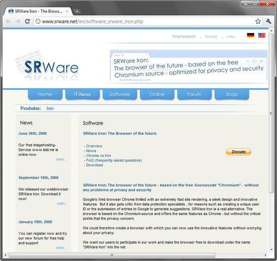 SRWare Iron v6.0.475 Final