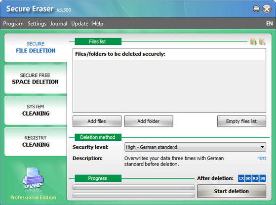 Secure Eraser v3.300 Professional Edition