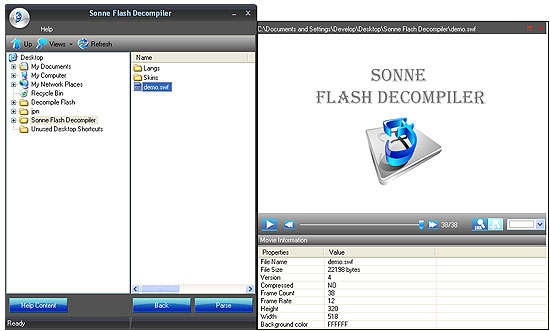 Sonne Flash Decompiler v5.2.1.2270