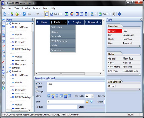 Sothink DHTML Menu v9.40 Build 936