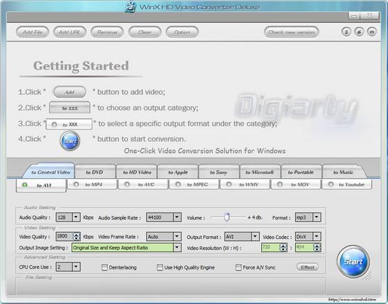 WinX HD Video Converter Deluxe v3.8.1 Build 20100802