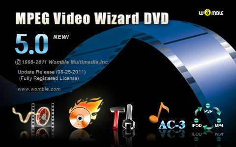 Womble MPEG Video Wizard DVD v5.0.1.103