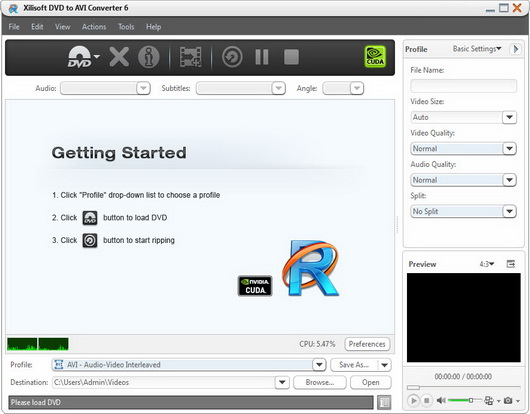 Xilisoft DVD to AVI Converter v6.0.12.0914