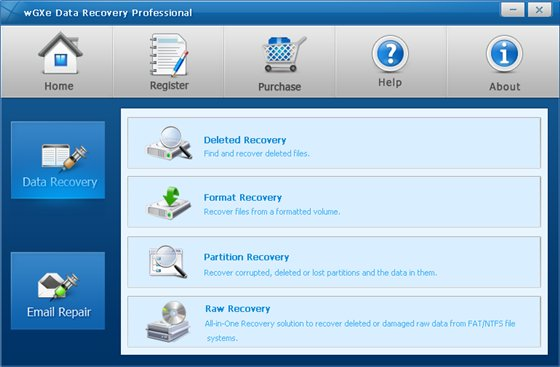 wGXe Data Recovery Professional v1.0.0.2
