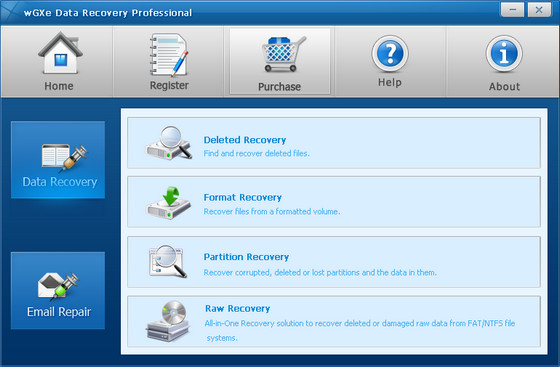 wGXe Data Recovery Professional v1.0.2.1