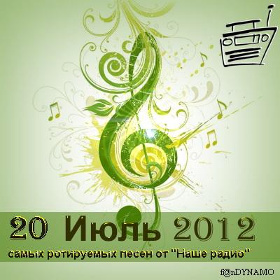 20 самых ротируемых песен Наше радио (июль 2012)