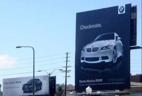 Рекламная война между BMW и Audi