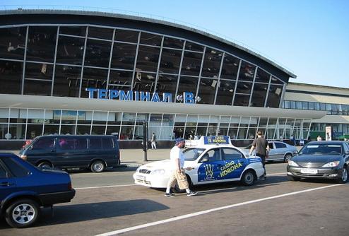Международный терминал аэропорта Борисполь затопило
