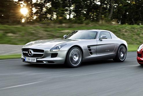 Появились первые изображения открытого Mercedes-Benz SLS AMG
