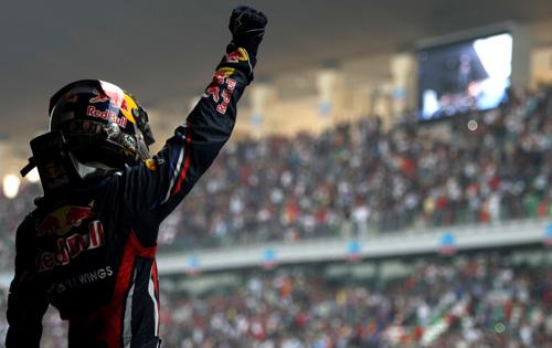 Феттель, Баттон и Алонсо финишировали на подиуме Гран-при Индии
