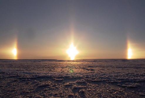 В Енбекшильдерском районе Акмолинской области наблюдали три Солнца